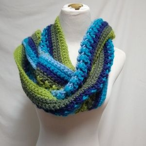 New York & Company Multi Color Long Scarf